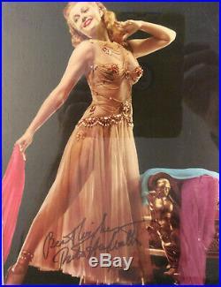 Rita Hayworth Signed Magazine Photo / PROFESSIONALLY FRAMED Autographed