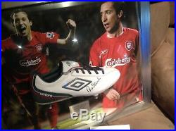 Robbie fowler framed signed boot photo display liverpool FC football gift lfc