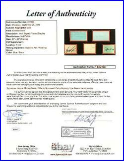 Robert DeNiro Joe Pesci Scorcese Raging Bull Signed Auto Cuts Photo Framed JSA