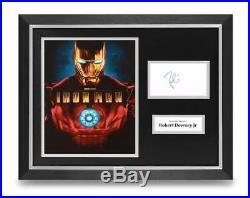 Robert Downey Jr Signed 16x12 Framed Photo Display Iron Man Autograph COA