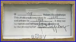 Robert Mapplethorpe Silver Dollar (color) 1988 Rare Signed Silver Gelatin