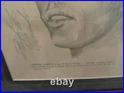 Roberto Clemente Signed Auto Framed Heavy Stock Art Photo JSA Pirates