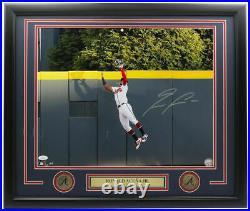 Ronald Acuna Jr. Signed Framed Atlanta Braves 16x20 Catch Photo JSA ITP