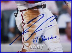 Ronald Acuna Jr. Signed Framed Atlanta Braves 16x20 Photo El Abusador BAS ITP