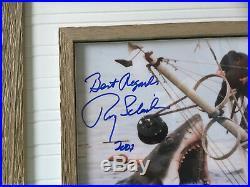 Roy Scheider JAWS 1975 photo ORCA framed END SCENE rare cast signed UACC RD