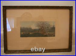S25 Vintage Original Wallace Nutting Exterior Photo Print Cows In Pasture Wn 10