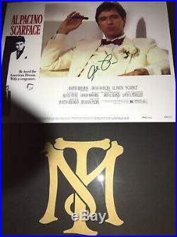 SCARFACE AL PACINO Genuinely Hand-Signed 8x10 Photo Script Collage Frame COA