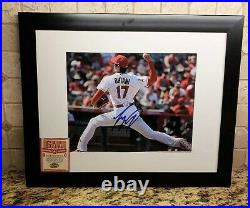 SHOHEI OHTANI MLB SIGNED PHOTO IN A 11x14 MATTED FRAME WITH A COA