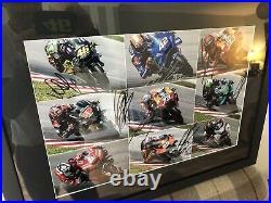 SIGNED MULTIPLE MOTOGP 2020 RIDERZ. LARGE FRAMED PHOTO. MotoGP