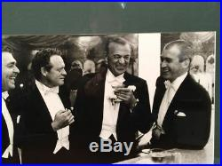 SLIM AARONS Signed Photograph. FOUR KINGS OF HOLLYWOOD Gable VH Cooper Stewart