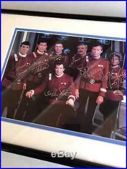 STAR TREK ORIGINAL CAST Autographed Photo Framed and Signed By All Seven