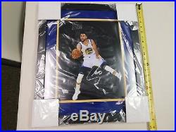 STEPHEN CURRY Signed /Autographed IN AIR DUNKING 11x16 Photo FRAMED FANATICS COA