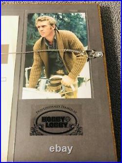 STEVE McQUEEN Signed (JSA LETTER) Autograph BULLITT Framed Photo not psa bas