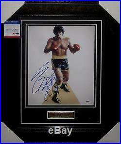 SYLVESTER STALLONE ROCKY BALBOA SIGNED FRAMED 11 x 14 inch Photo PSA DNA 3A65621