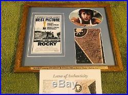 SYLVESTER STALLONE Signed (JSA LETTER) Autograph ROCKY Framed Photo no psa bas