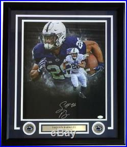 Saquon Barkley Signed Framed 16x20 Penn State Collage Photo JSA Signature Debut