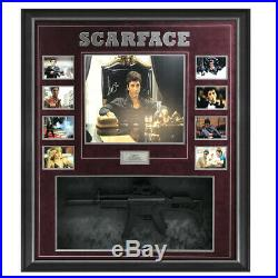Scarface Al Pacino Hand Signed Framed Photo With Machine Gun Tony Montana