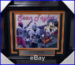 Sean Taylor Autographed Signed Framed 8x10 Photo Miami Hurricanes Beckett A54741