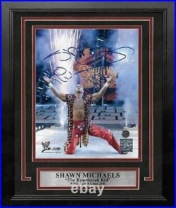 Shawn Michaels Pyro Entrance Autographed 8x10 Framed WWE Wrestling Photo JSA PSA