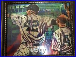 Signed 2019 HOF Mariano Rivera 8x10 Framed Photo WithCOA Signed In Gold! Yankees
