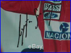 Signed Ayrton Senna Framed Mclaren Photo