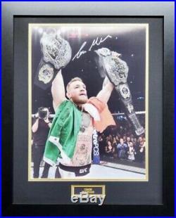 Signed Conor Mcgregor UFC Large Photo In Frame