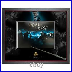 Signed Daniel Radcliffe Harry Potter Photo and Wand Framed Display