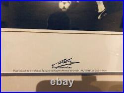 Signed Diego Maradona framed photograph