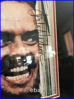 Signed Jack Nicholson The Shining With COA Framed