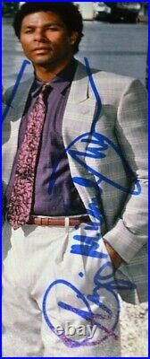 Signed MIAMI VICE Don Johnson, Philip Thomas, Olmos AUTOGRAPH, COA FRAME, DVD