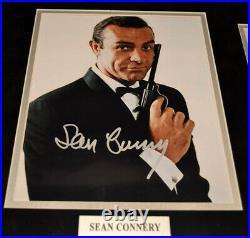 Signed SEAN CONNERY 007 Autograph, CRAIG + all JAMES BOND, COA, Frame, UACC, DVD