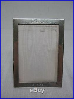 Signed Tiffany & Co Sterling Silver Standing Picture Frame 4 X 5 1/2