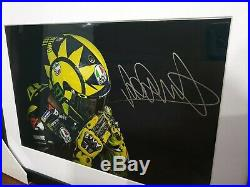 Signed Valentino Rossi 2019 Helmet Large Framed Autographed Photo MotoGP Yamaha