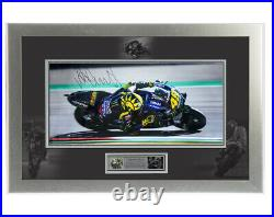 Signed Valentino Rossi 2019 MotoGP Framed Large Photo Display Limited Edition