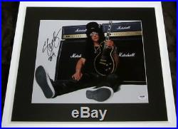 Slash signed auto autographed 11x14 inch photo matted framed with PSA/DNA sticker