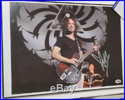 Soundgarden Chris Cornell signed Poster size Photo PSA DNA (No Frame)