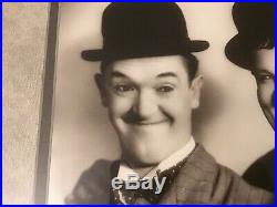 Stan Laurel & Oliver Hardy Signed Autograph Framed With Photo Comedy Pioneer RRCOA