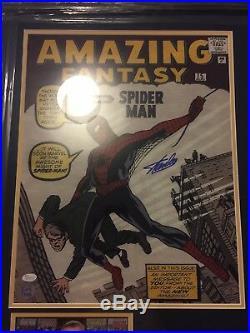 Stan Lee 20x16 Signed Photograph Framed Presentation. JSA /Excelsior Approved