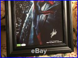 Stan Lee Hand Signed Autographed Custom Framed 11x17 Spider-Man Photo with JSA COA