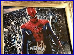 Stan Lee Hand Signed Autographed Custom Framed Spider-Man Photo with PSA COA