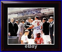 Stan Musial holo COA signed HOF 1969 16x20 photo framed auto John F Kennedy JFK