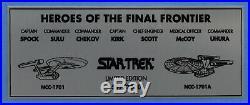 Star Trek (7) Shatner, Nimoy, Takei Signed Framed Photo LE #597/2500 BAS #A57328