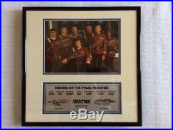 Star Trek Heroes Of The Final Frontier Autographed Signed Cast Crew Photo Framed