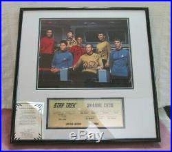 Star Trek Original Series Crew Photo Signed by Cast Framed Limited Edition