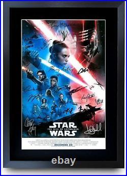 Star Wars A3 Framed Movie Film Poster Collection Signed Printed Saga Trilogy