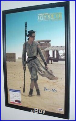 Star Wars Daisy Ridley (Rey) signed Photo PSA DNA (Framed)