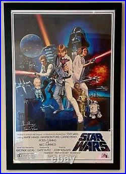 Star Wars Signed Poster Picture Darth Vadar David Prowse Autograph Framed Rare