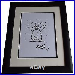 Stephen Hillenburg SIGNED FRAMED Photo Autograph Large 16x12 display Rare Art