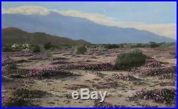 Stephen Willard -Beautiful Desert Landscape -1920s oil Painted photograph