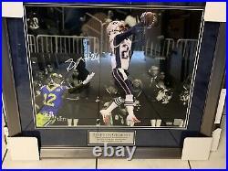 Stephon Gilmore Autographed Signed Framed Super Bowl 53 & Patriots Photo